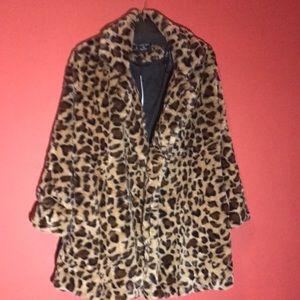 Love Tree medium Leopard Animal Print Coat Sz S